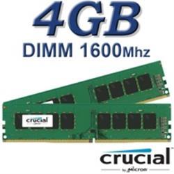 Crucial DIMM 4GB DDR3L 1600Mhz 240pin 1.35V/1.5V