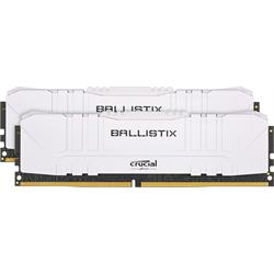 Ballistix WHITE DIMM 2x8(16GB Kit) DDR4 3200MHZ