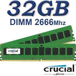 Crucial DIMM 32GB DDR4 2666Mhz