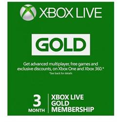 XBOX LIVE GOLD – 3 Months