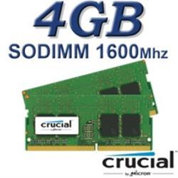 Crucial SODIMM 4GB DDR3L 1600Mhz