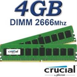 Crucial DIMM 4GB DDR4 2666Mhz