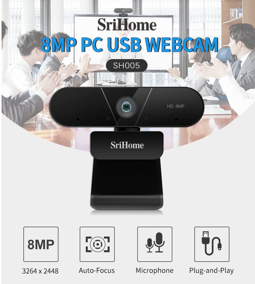 מצלמת אינטרנט SRICAM  עם RightLight 3 ו-  4K Ultra HD Retail HDR
